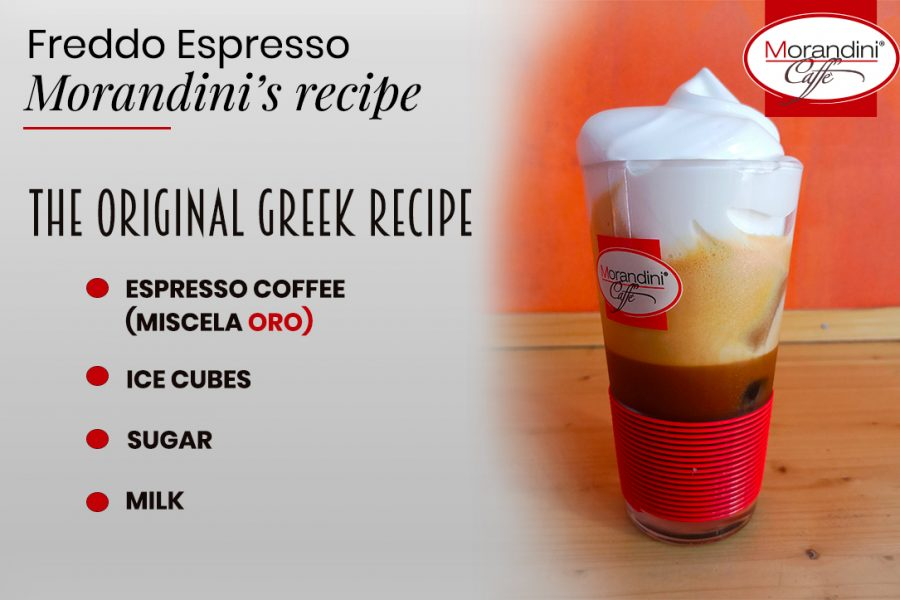 The original greek recipe of the Freddo espresso